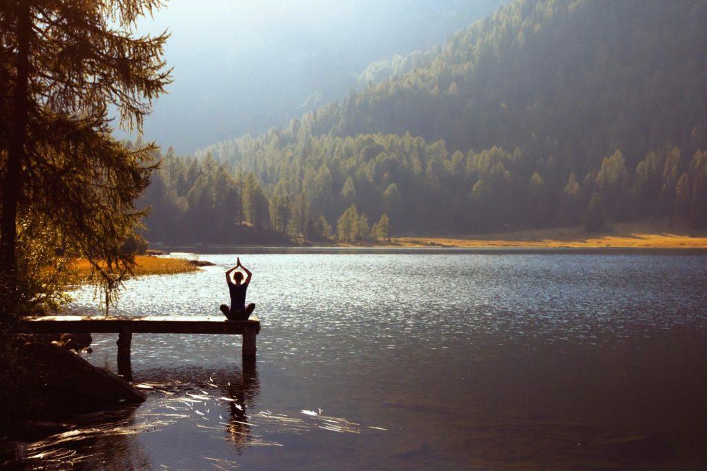 meditator in nature