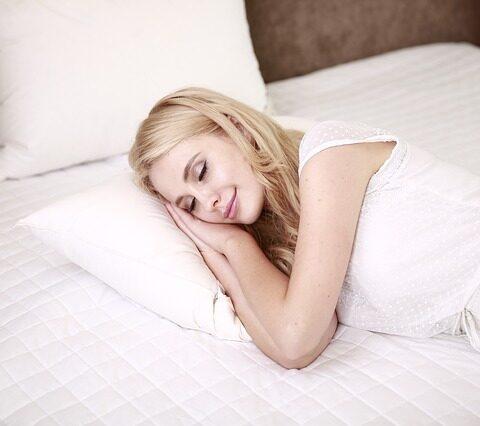 woman getting better sleep