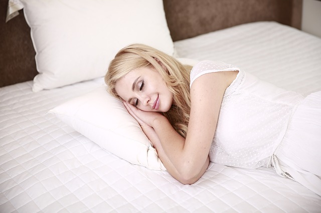 woman getting better sleep